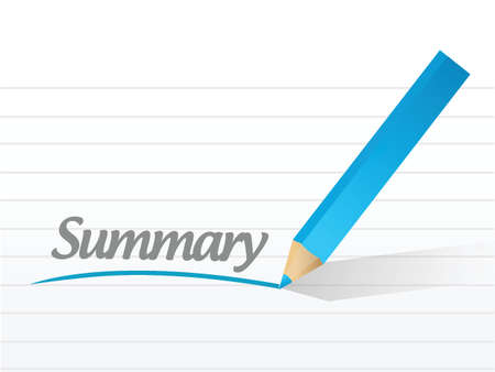 summary message illustration design over a white background