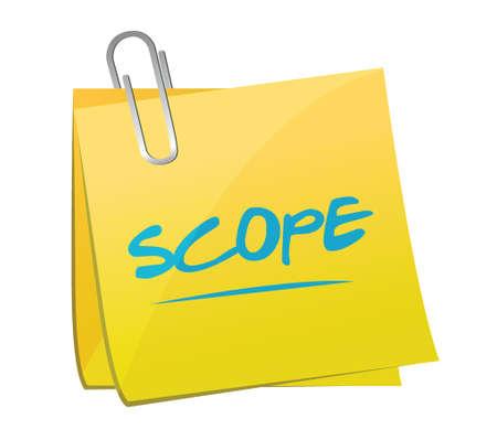 scope memo post illustration design over a white background