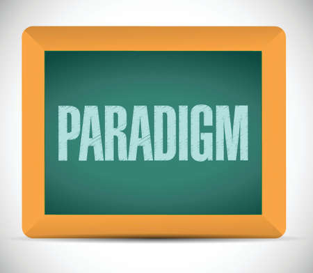 paradigm sign illustration design over a white background