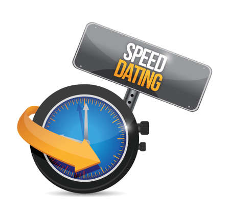 speed dating watch illustration design over a white background