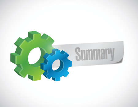 summary gear sign illustration design over a white background