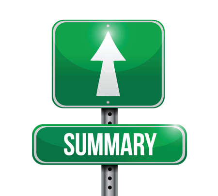 summary street sign illustration design over a white background