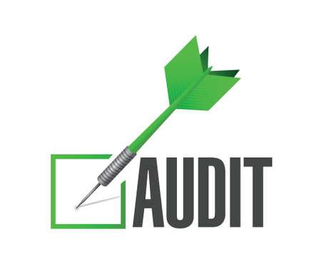 audit check dart illustration design over a white background