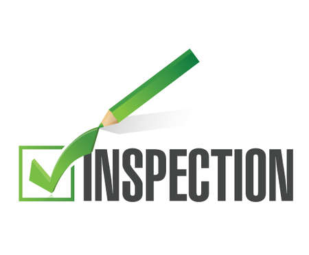 Foto de inspection check mark illustration design over a white background - Imagen libre de derechos