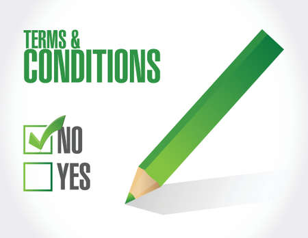no terms and conditions illustration design over white