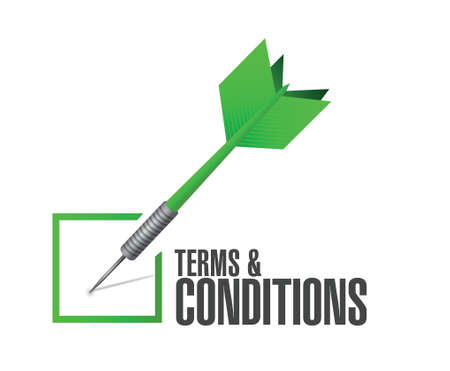terms and conditions check dart illustration design over white