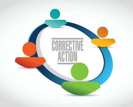corrective action people network illustration design over white