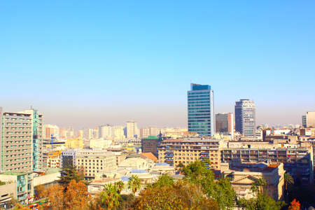 Santiago de Chile, panoramic view skyline of the center