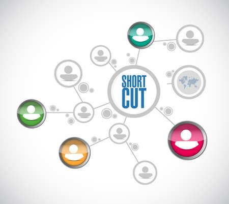 Shortcut people diagram network sign concept illustration design graphic