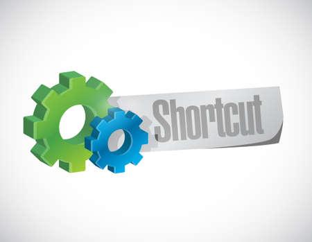 Shortcut gear sign concept illustration design graphic
