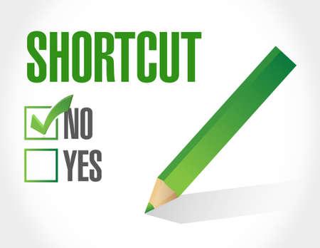no Shortcut sign concept illustration design graphic