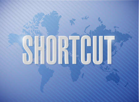 Shortcut world sign concept illustration design graphic