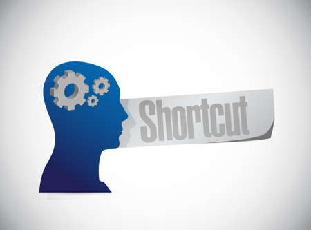 Shortcut mind head sign concept illustration design graphic