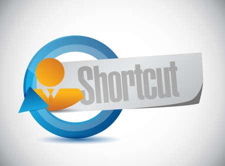 Shortcut people sign concept illustration design graphic