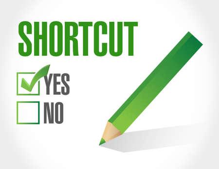 Shortcut selection sign concept illustration design graphic