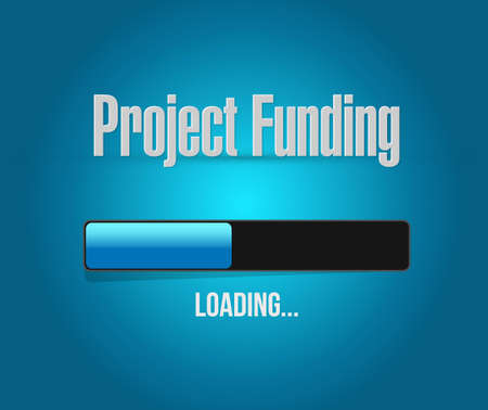 Project Funding search bar sign concept illustration design graphic