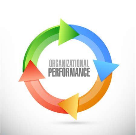 organizational performance cycle sign concept illustration design graphic
