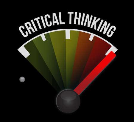 Illustration pour Critical Thinking meter sign illustration design graphic - image libre de droit