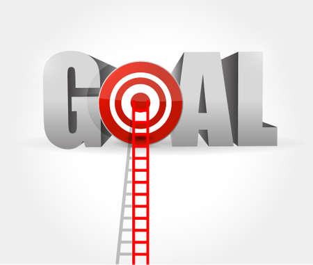 steps to goal success. ladder to your goal. isolated illustration