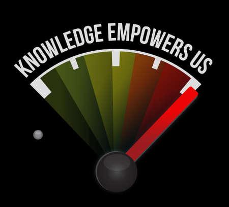 Illustration pour knowledge empowers us meter sign concept illustration design graphic - image libre de droit