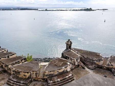San Juan, Puerto Rico historic Fort San Felipe Del Morro.  Puerto Rico