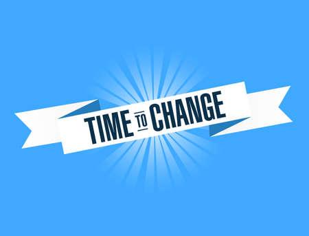 Today to change. Illustration Design graphic. Vintage ribbon. banner illustration design