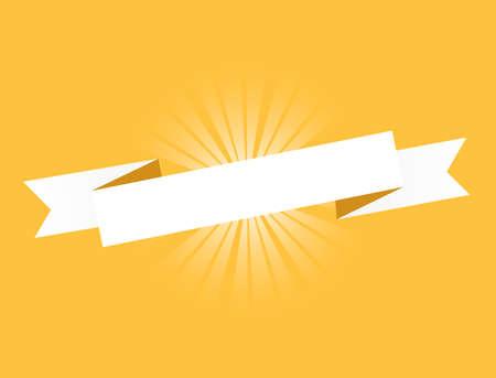 Orange ribbon. Illustration Design graphic. Vintage ribbon. banner illustration design.