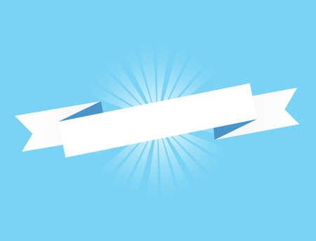 Blue ribbon. Illustration Design graphic. Vintage ribbon. banner illustration design