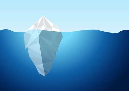 White Iceberg on Blue Atlantic Background Vector. illustration design graphic