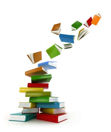 Photo pour Books Tornado   Isolated on white - image libre de droit
