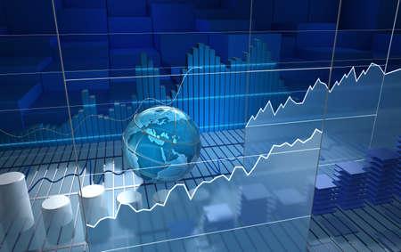 Photo pour Stock exchange board, abstract background - image libre de droit