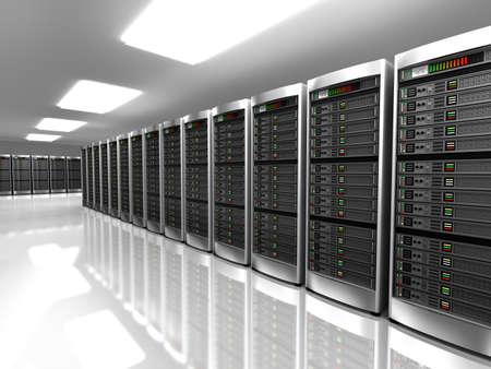 Photo pour Modern interior of server room in datacenter - image libre de droit