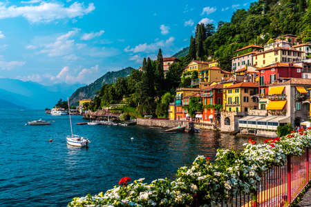 Photo for Varenna, small town on lake Como, Italy - Royalty Free Image
