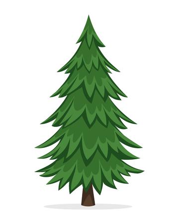 Illustration pour Cartoon Pine Tree - image libre de droit