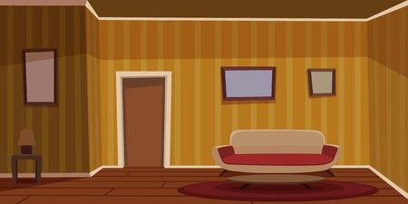 Illustration pour Retro Living Room - Yellow - image libre de droit