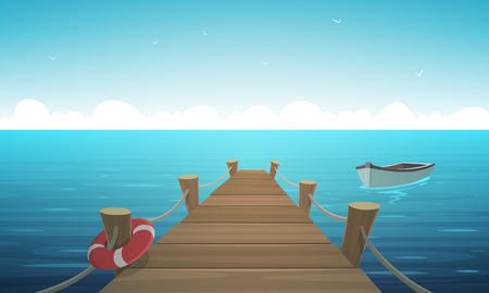 Ilustración de Cartoon Pier - Imagen libre de derechos