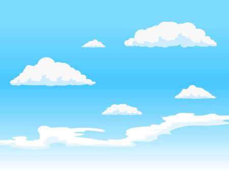 Ilustración de Clouds on blue  sky hand drawn vector illustration - Imagen libre de derechos