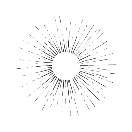 Illustration for Sun engraving vector illustration. Scratch board style imitation. Hand drawn image. - Royalty Free Image