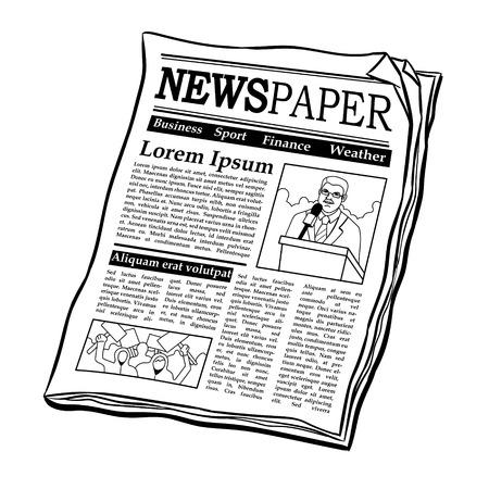 Illustration pour Newspaper coloring book vector illustration - image libre de droit