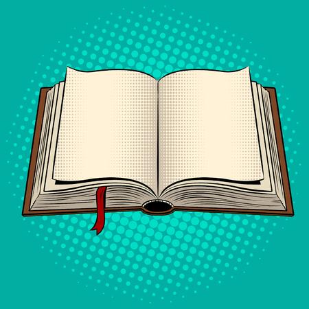 Ilustración de Open book pop art vector illustration. - Imagen libre de derechos