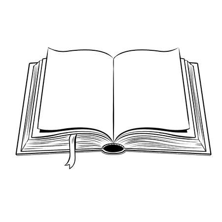 Ilustración de Open book coloring vector illustration - Imagen libre de derechos