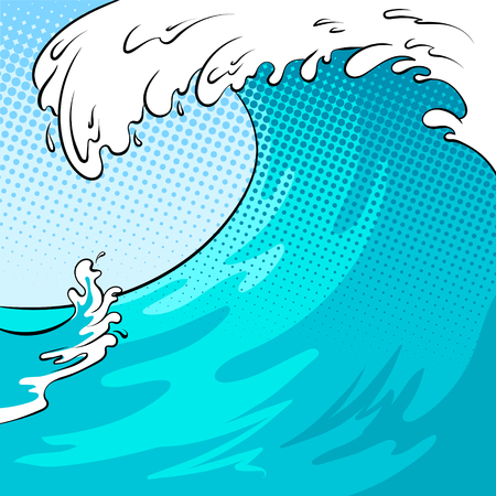 Ilustración de Water wave background pop art vector illustration - Imagen libre de derechos