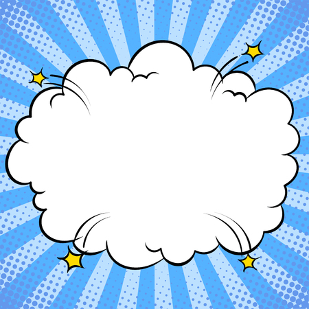 Illustration pour Bomb explosion cloud comic book pop art vector - image libre de droit