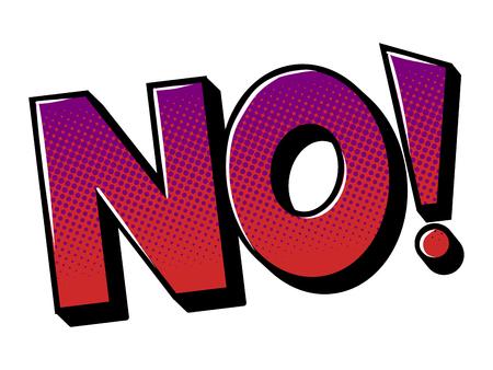Illustration for No word comic book pop art vector illustration - Royalty Free Image
