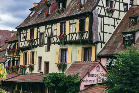 Colmar is a city in the Grand Est region in north-eastern France, near the border with Germany. On the cobbled streets of the Old Town are brick-wooden houses from the Middle Ages and Renaissance. July 25, 2017