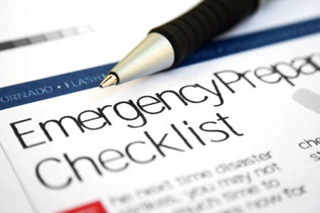 Photo for Emergency checklist - Royalty Free Image