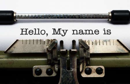 Photo pour Hello, my name is - image libre de droit