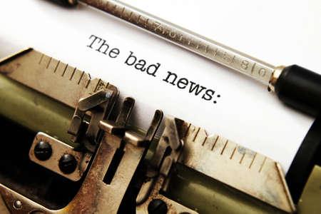 Bad news on typewriter