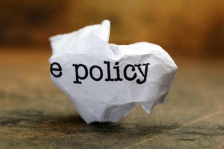 Policy trash concept