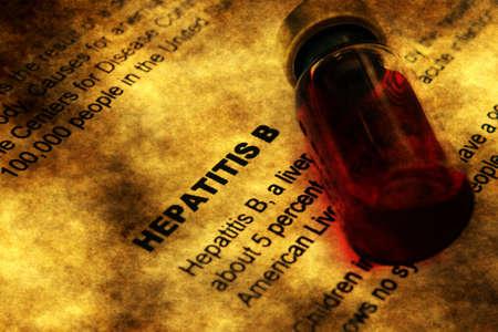 Hepatitis and vial concept